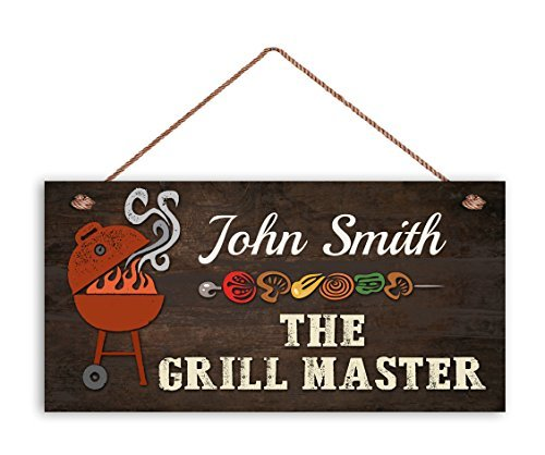 Zhaoshoping The Grill Master Sign BBQ Cartel Personalizado ...