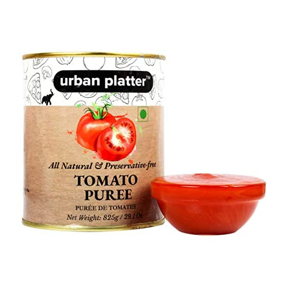 Urban Platter Tomato Puree Can, 825g / 29.1oz [All Natural, Preservative-Free, Puree De Tomates]