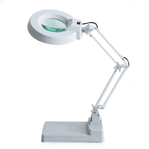 AtR Lupa Mesa de Escritorio Lupa de Brazo Ajustable con luz LED ...