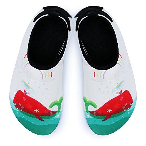L de Run Niños Natación Agua Guantes Barefoot Aqua Calcetines para navegar por Beach Pool Yoga blanco