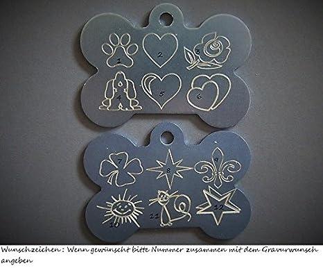 /Ø 34 mm Die Farbauswahl und der Gravurwunsch d/ürfen gerne auch unterschiedlich sein ca Gro/ße Aluminium Hundemarke//Adressanh/änger mit Befestigungsring Motiv Pfote inclusive Diamant-Gravur nach Ihren W/ünschen Ma/ße