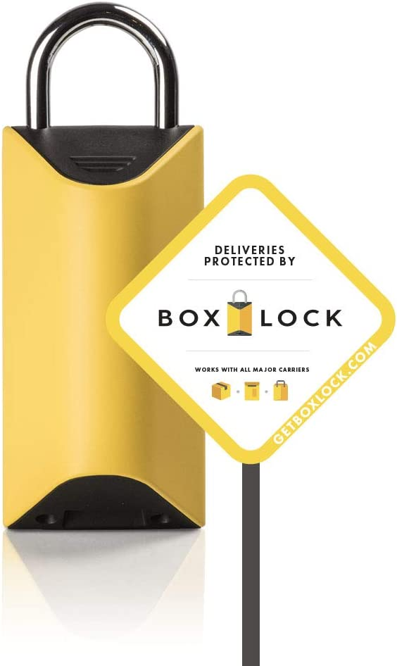 BOXLOCK Home + Yard Sign Kit The First Smart Padlock to Protect Deliveries - Protect Packages from All Major U.S. Carriers