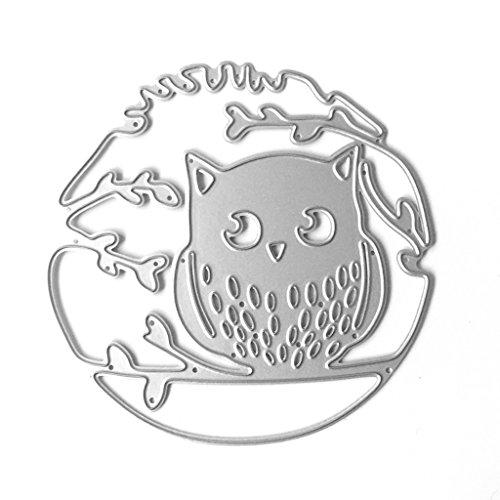 Bottone Metal Cutting Dies Stencil Template Mould Stencil Cut Dies For DIY Scrapbook Album Paper Card Craft Embossing Decoration Owl