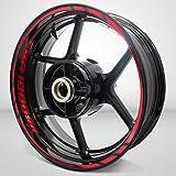Stickman Vinyls Reflective Red Motorcycle Rim Wheel