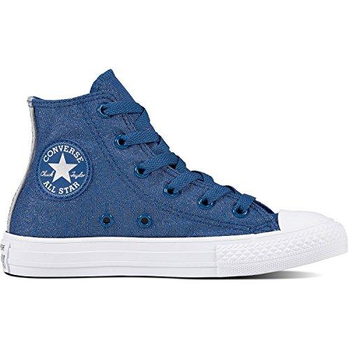 sale shop for cheap sale low shipping fee Converse Unisex Kids' Chuck Taylor CTAS Hi Low-Top Sneakers Multicolour (Court Blue/White/Pure Silver 410) N95DXH