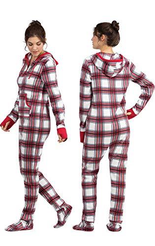 249d76c6da7a Jual PajamaGram Women s Hoodie-Footie Fleece Onesie Pajamas - Sets ...
