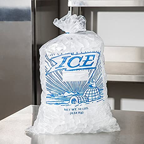 10 Lb Clear Plastic Ice Bag With Igloo Graphic 1000 Bundle By TableTop King