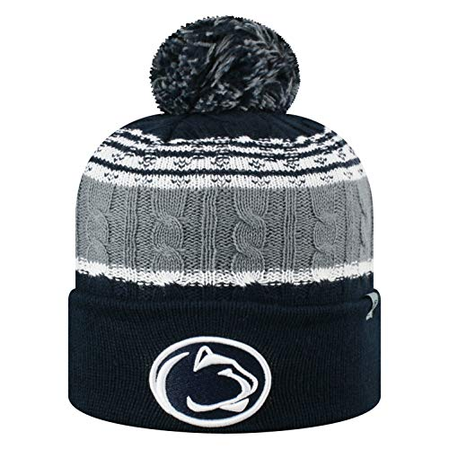 Top of the World NCAA Penn State Nittany Lions Men's Winter Knit Altitude Warm Hat, Navy