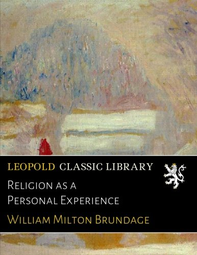Religion as a Personal Experience ePub fb2 ebook
