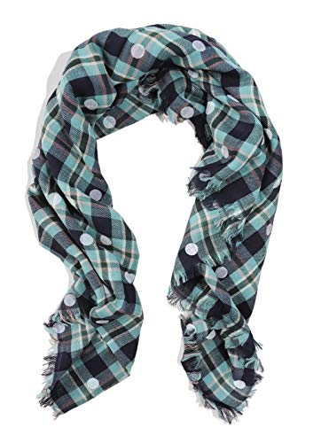 J.Crew Women's Polka Dot Tartan Plaid Wool Blend Scarf for sale  Delivered anywhere in USA