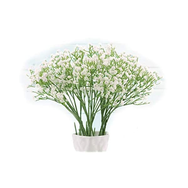 "Floral Kingdom Artificial 16"" White Baby's Breath Flowers for Floral Arrangements, Home, Office. Weddings"