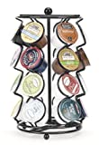 k cup 1 2 caf - K-cup Coffee Pod Storage spinning Carousel Holder - 24 ct, Black