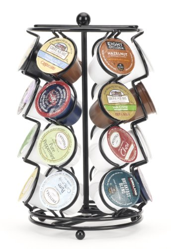 Large Product Image of K-cup Coffee Pod Storage spinning Carousel Holder - 24 ct, Black