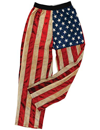 - USA Flag Lounge Pants - Rustic Old Glory, Lightweight Feel