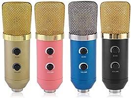 5 Unids//set Condensador Grabaci/ón de sonido Hablar por voz Micr/ófono Independiente Tarjeta de audio Micr/ófono libre con tr/ípode MK-F100TL