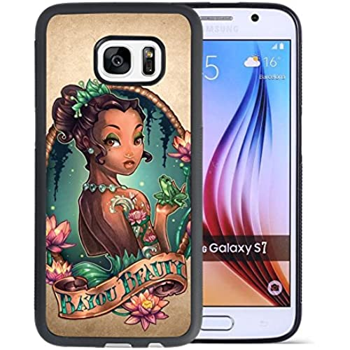 Princess and the frog Samsung Galaxy S7 Case, Onelee [Never fade] Princess and the frog Samsung Galaxy S7 Black Sales