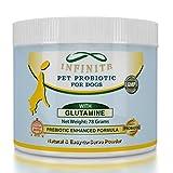 Infinite Probiotics for Dogs - Natural Relief from Gas, Diarrhea, Shedding, Bad Breath. Dog Probiotic Formula (Powder) w/Glutamine, Digestive Enzymes, Prebiotics - 60 Servings