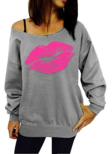 Ladies Sexy Lips 1980s Sweatshirt. Five Colors - S to 2XL