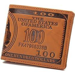 JD Million shop Osmond 100 Dollar Wallet Short Purses Leather Wallets Male Purse America Notecase Carteira Masculina ID Card Holder Magic Wallet