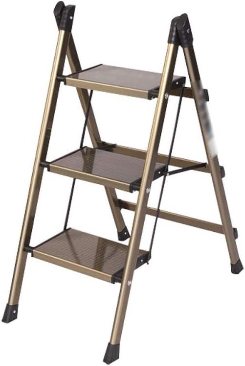 Qujifangtd Taburete De Paso, 88cms Plegable Escalera De Mano Escalera De Cocina Compacto Estera Antideslizante Alto Taburete Estante De Flores: Amazon.es: Hogar