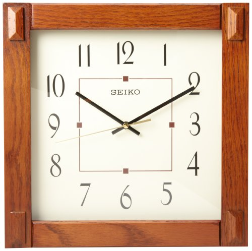Dot Clock Brown - Seiko Wall Clock With Dark Brown Case