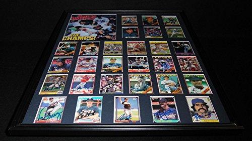 1987 World Series Teams - 1987 Minnesota Twins World Series Champions Team Signed Framed 18x24 Photo Set - Autographed MLB Photos