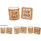 Dad Mug & Coaster Set, Boxed, (TOP DAD) by Shudehill Giftware