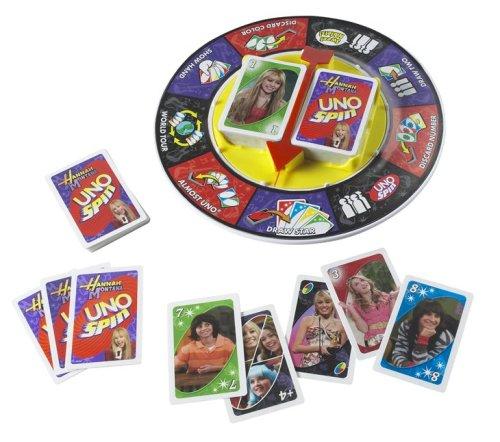 Mattel Disney Hannah Montana UNO Spin Card Game