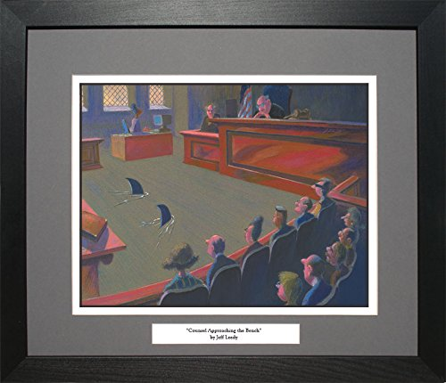 Jeff Leedy COUNSEL APPROACHING THE BENCH Lawyer Attorney Law Office Art Gift