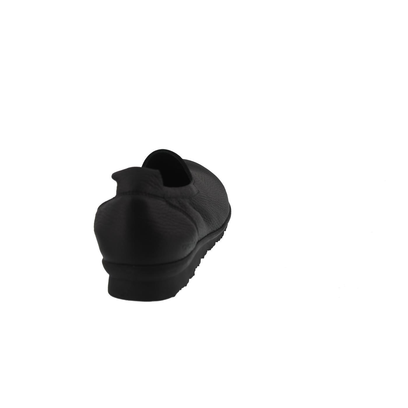 Arche Barral, Slipper, Cerf Pleine Latexsohle Fleur (Hirschleder), Schwarz (Noir), Latexsohle Pleine Noir 16760e