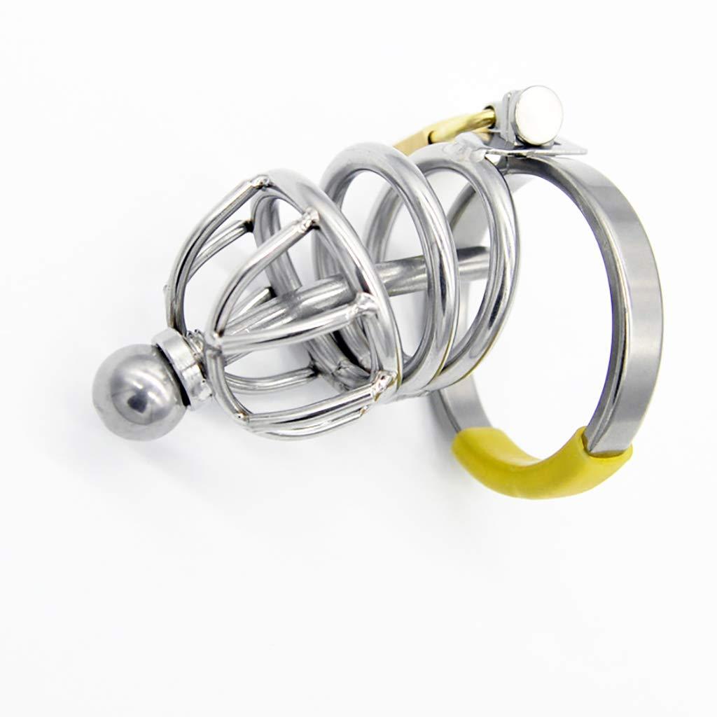 G-XQ Cinturón de castidad Dispositivo el de castidad para el Dispositivo bloqueo del pene Catéter de silicona del fetiche de la esclavitud del bloqueo 37 (Tamaño : 48mm) d20928