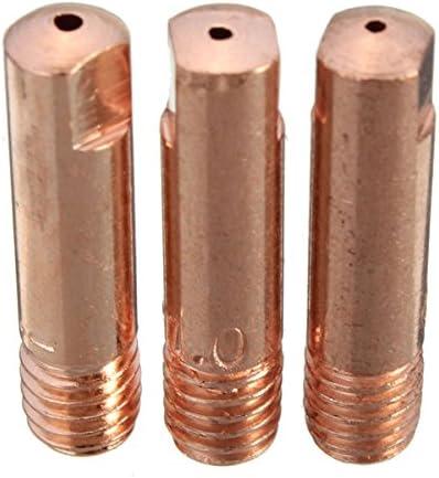 KUNSE 10 Pcs Mb-15Ak M6 Mig//Mag Torche De Soudage Embout De Contact Buse De Gaz 0.8//1.0//1.2mm-1.2mm