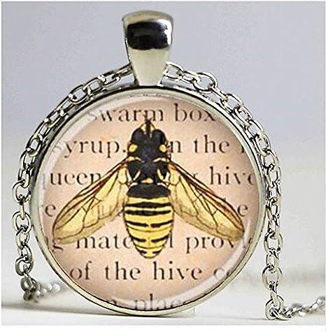 Abeja reina joyas, cristal arte colgante, colgante de imagen, miel ...