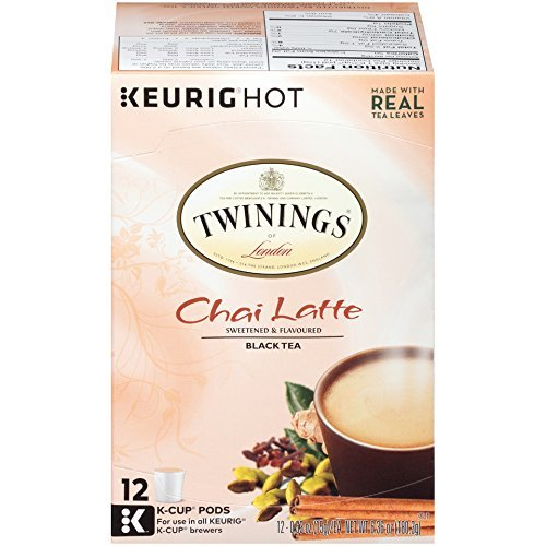 Twinings of London Variety Latte Pack- Chai Latte & French Vanila Tea K-cups for Keurig- 12 Count(2 Pack)
