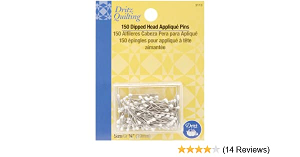 Amazon.com: dritz quilting 3113 applique pins dipped head white