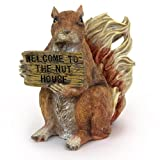 Comical Squirrel with Sign: Welcome to the Nut House, 5.5-inch