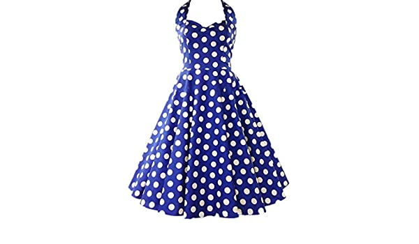 Udresses Women Short Halter Prom Dress Vintage A-line Tea Length Party Gown YH23 at Amazon Womens Clothing store: