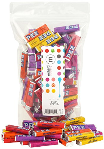 Pez Candy Refills - Assorted Fruit Flavors Gluten Free- 2 Lb. Guaranteed Fresh (Pez Strawberry Refill)