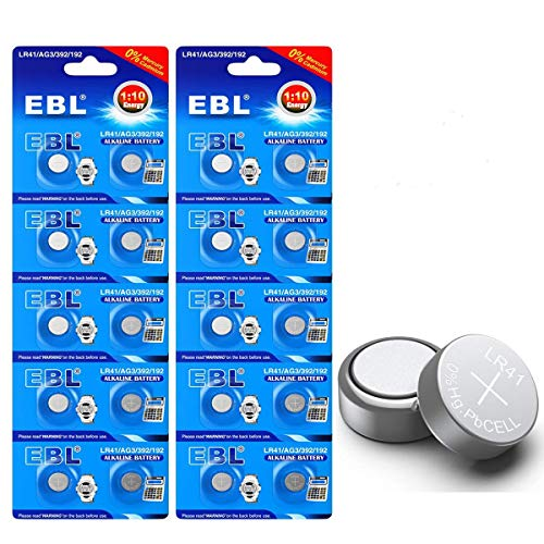 EBL 20Pack LR41 AG3 392 384 192 1.5V Alkaline Coin Button Cell Batteries for Watch Calculator