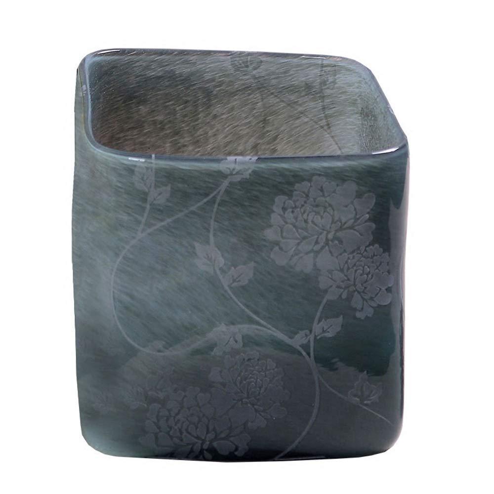 色ガラス花瓶用花緑植物結婚式の植木鉢装飾ホームオフィスデスク花瓶花バスケットフロア花瓶 B07QTGQCK1