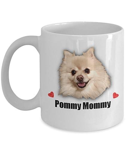Amazon Com Pommy Mommy Pomeranian Gift Coffee Mug For Dog Lovers