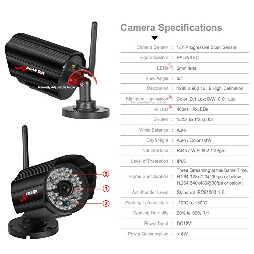 Anran 8ch 960p 1 3 Mp Wireless Security System 12 Inch