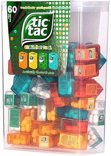 - TIC TAC Box with 60 Mini Boxes (Mint, Orange, Spearmint, Peach and Passion fruit)