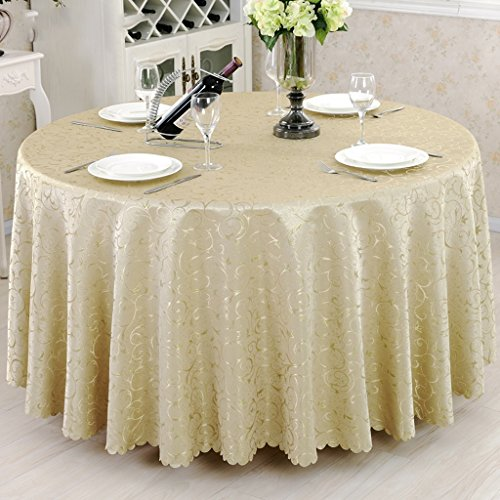 Hyun times Tablecloth Hotel Continental Dining Table Cloth Fashion Round Table Table Coffee Table Coffee Table Wallpaper ( Color : B , Size : 200 cm )