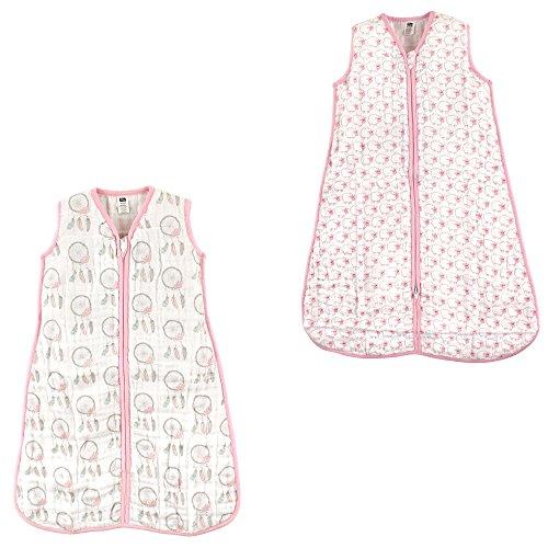 Hudson Baby Safe Sleep Wearable muslin Sleeping Bag, 2 Pack,
