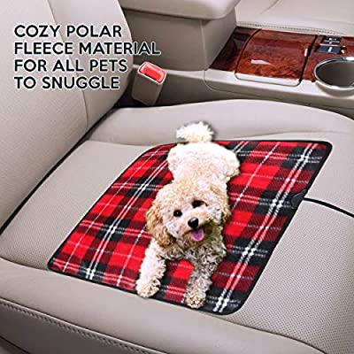 Zone Tech Car Mini Heated Travel Blanket Pad – Red Plaid Premium Quality 12V Comfortable Heating Car Mini Blanket Pad Perfect for Winter Travels: Home & Kitchen