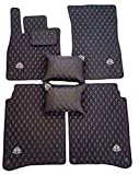 Mercedes W222 S-Class S550 S600 Maybach Handmade Eco Leather Floor Mats + 2 x Pillows w/ Custom Options