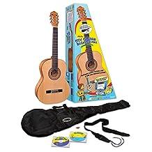 eMedia EG11131 3/4 Size My Guitar Beginner Acoustic Guitar Pack for Kids, Sequoia