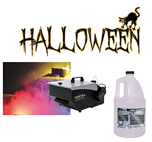 Halloween American DJ Mister Kool Low Laying Fog Smoke Machine & Gallon Fluid by American Sound Connection