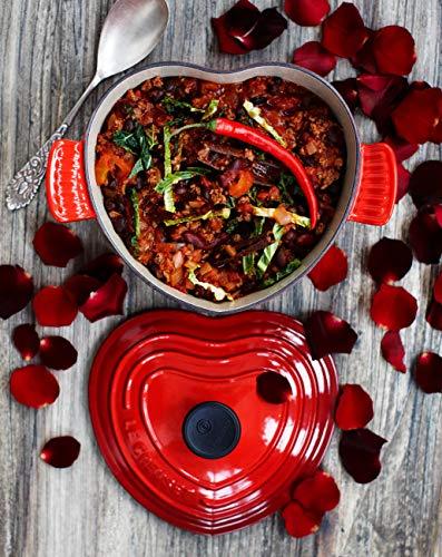 Le Creuset Enameled Cast-Iron 2-Quart Heart Casserole, Red, 20 cm by Le Creuset (Image #1)